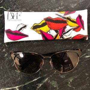 Diane Von Furstenberg - Brown & Gold Sunglasses